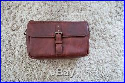 ONA The Bowery Leather Bordeaux Red Brown Camera Bag Case