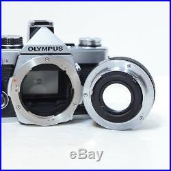 Olympus OM-2 + 50mm f/1.8 Lens SLR Film Camera KIT with Brown Leather Case 35mm