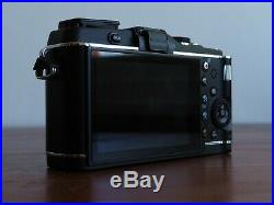 Olympus PEN E-P3 12.3MP Digital Camera with 2 x lens, leather camera case
