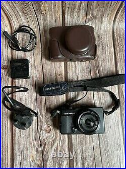 Olympus Stylus XZ-2 Compact Digital Camera + Leather Case Excellent Condition