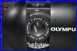 Olympus XA camera with 35mm f2.8 Zuiko lens, A11 Flash & leather case Mint-