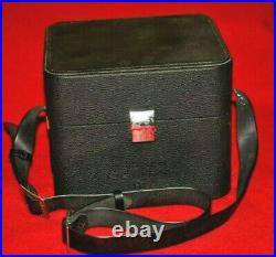 PENTAX 67 6x7 Hard Leather Camera Case with Strap & Accessory Compartments Japan