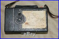 POLAROID MODEL195 LAND CAMERA IN CASE Vintage original leather strap NOT TESTED