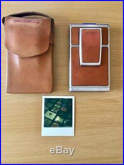 POLAROID SX-70 Land Camera with ORIGINAL LEATHER CASE & TESTED WORKING