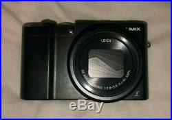 Panasonic LUMIX TZ100 Compact Camera Black (leather case included)