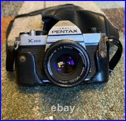 Pentax K1000 Film Camera With Brown leather case