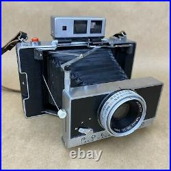 Polaroid Land Camera Model 180 With 114mm Tominon COMPLETE SET With Leather Case
