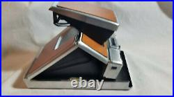 Polaroid SX-70 Instant Camera Brown/Chrome & Ever Ready Leather Case TESTED