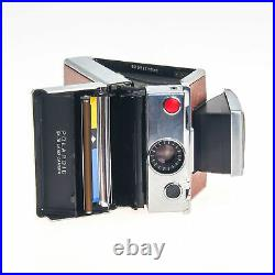 Polaroid SX-70 Instant Print Land Camera Brown Leather with Case