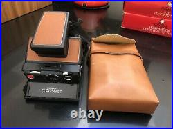 Polaroid SX-70 Land Camera With Flash And Leather Case