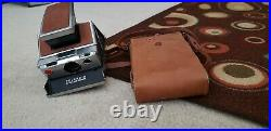 Polaroid SX-70 Land Camera With Leather Case. For PARTS