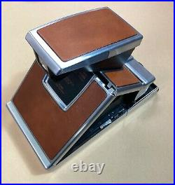 Polaroid SX-70 Land Camera with Leather Cover and Carry Case