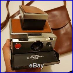 Polaroid SX-70 alpha 1 camera vintage TESTED & WORKING + Leather case