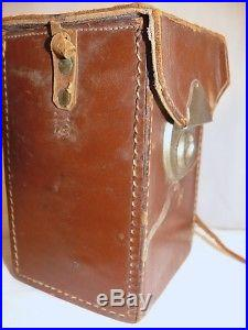 RARE A-073815 Certificate Seal Customs 193 Inspector Leather Fitted Camera CASE