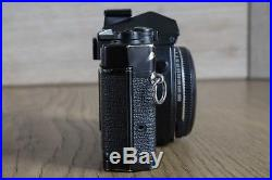 RARE Olympus OM3 35mm Black Film Camera Body with T20 Flashgun and Leather Case