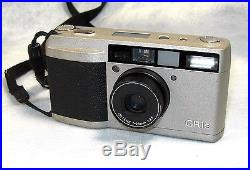 RICOH GR1s 35mm Film Silver Camera with28mm Lens, Leather Case & Neck Strap