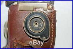 Rare 1930's Welta Perfekta twin lens camera. With ever-ready leather case