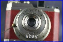 Rare Arsen Camera- Red Leather-case And Lens Cover