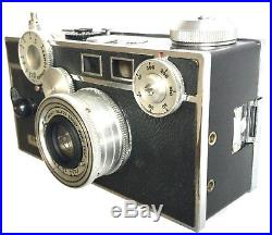 Rare New Old Stock Argus C3 Camera In Original Box With Leather Case & Flash