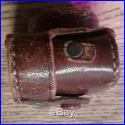 Rare Vintage Peace Miniature Spy Camera Round Viewfinder Leather Case NR Mighty