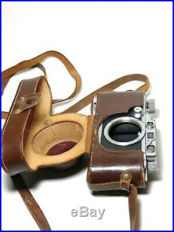 Retro 1935 Leica III 35mm Rangefinder Camera Body with Original Leather Case
