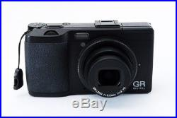 Ricoh GR Digital IV 10.4 MP Camera Black Exc+++ withLeather case, Strap 783