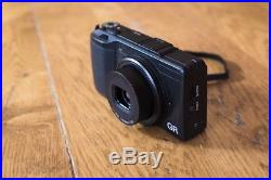 Ricoh GR II 16.2MP Digital Camera Black 2 batteries, box, leather case