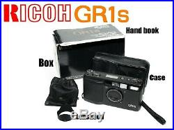 Ricoh GR1s 35mm Film Camera with Box, Handbook, Hood and Leather Case