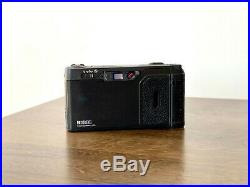 Ricoh GR1s Black Point & Shoot 35mm Film Camera with Leather Half Case and Strap