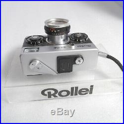 Rollei 35 SE 35SE 35mm Film Camera Sonnar 40mm 12.8 Strap Leather Case Pouch