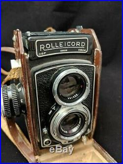 Rollei Rolleicord TLR Camera With Xenar 75mm F/3.5 with leather case