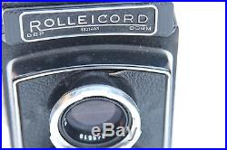 Rolleicord Model III K3B Film Camera Xenar 75mm f/3.5 Lens with Leather Case