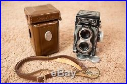 Rolleiflex 3.5 T 120 TLR Camera withCarl Zeiss Tessar 3.5 Lens & Leather Case