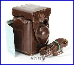 Rolleiflex TLR Brown Leather Case with Strap and Manual for 3.5F
