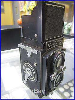 Rolleiflex k4 3.5 / 75 Tessar 6x6 640 Vintage Camera with Leather Case Good Cond