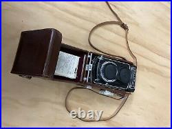Rollieflex T 6x6 Camera With Original Leather Case. Perfect Condition
