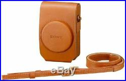 SONY Digital Camera Case Soft Carrying Case Brown LCS-RXG T RX100 Series