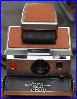 SX-70 Polaroid Land Camera Alpha 1 with Leather Case Tested