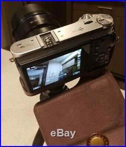 Samsung NX500 4K mirrorless camera (Kit with 16-50mm Lens) with leather case, tripod