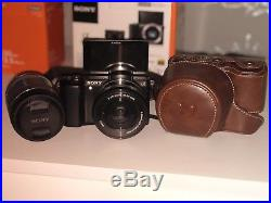 Sony A5000 20.1MP Digital Camera Sony E30 Micro Lens And Brown Leather Case