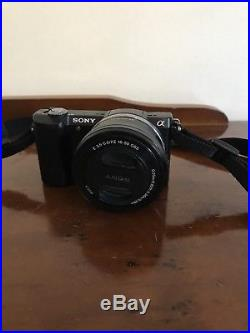 Sony A5000 with leather Sony camera case