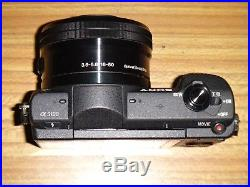 Sony Alpha A5100 24.3MP Mirrorless Digital Camera, Black and Leather Case