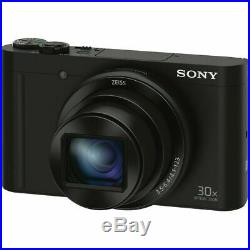 Sony Cyber-Shot DSC-WX500 18.2MP Camera With Sony Leather Case