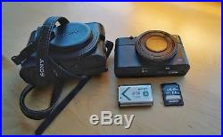 Sony Cyber-shot RX100 II 20.2MP Digital Camera Black with 64GB SD + Leather Case