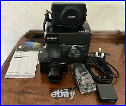 Sony RX100 Mk1 20.2 MP Digital Camera Boxed With f1.8 Lens & Sony Leather Case