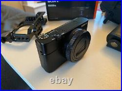 Sony RX100 VII 20.1MP Compact Digital Camera, Cage, Leather Case, Case
