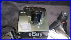 Sony RX100i Camera, official Sony leather case, battery & manfrotto mini tripod