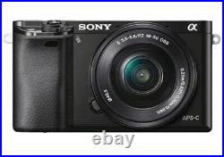 Sony a6000 Mirrorless Camera with 16-50mm E-Mount Lens + PU Leather Case