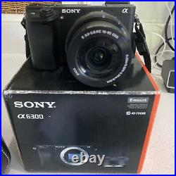 Sony a6300 camera, Leather Case, battery, SD Card, Charger Inc Auto Lens