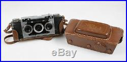Steampunk 3d Camera Leather Case With Strap